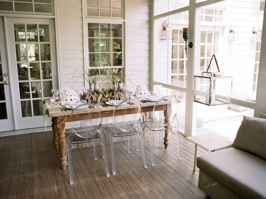 rustic meets modern beach chic table decor