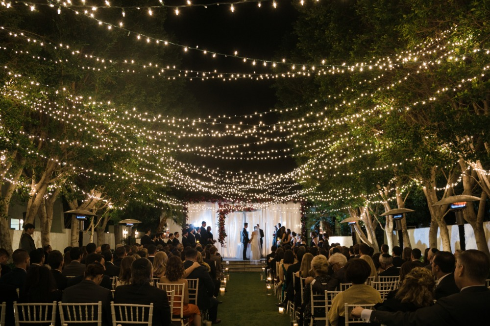 ... Weekend Palm Springs Wedding Under a Canopy of Lights ... & Gallery - Weekend Palm Springs Wedding Under a Canopy of Lights