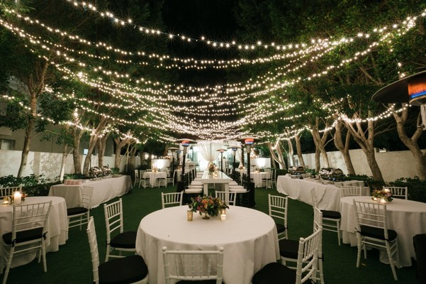 Weekend Palm Springs Wedding Under a Canopy of Lights