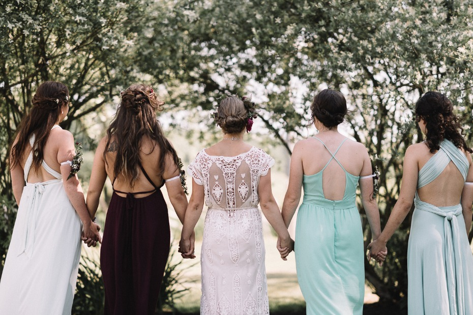 mis matched bridesmaid dresses