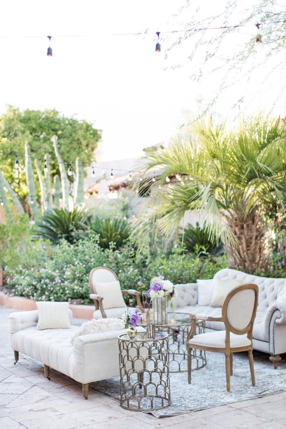 Chic outdoor lounge area