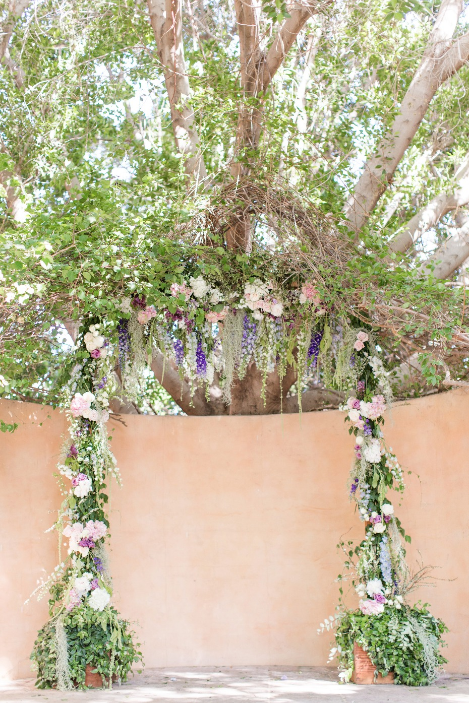 Over the top floral ceremony arch