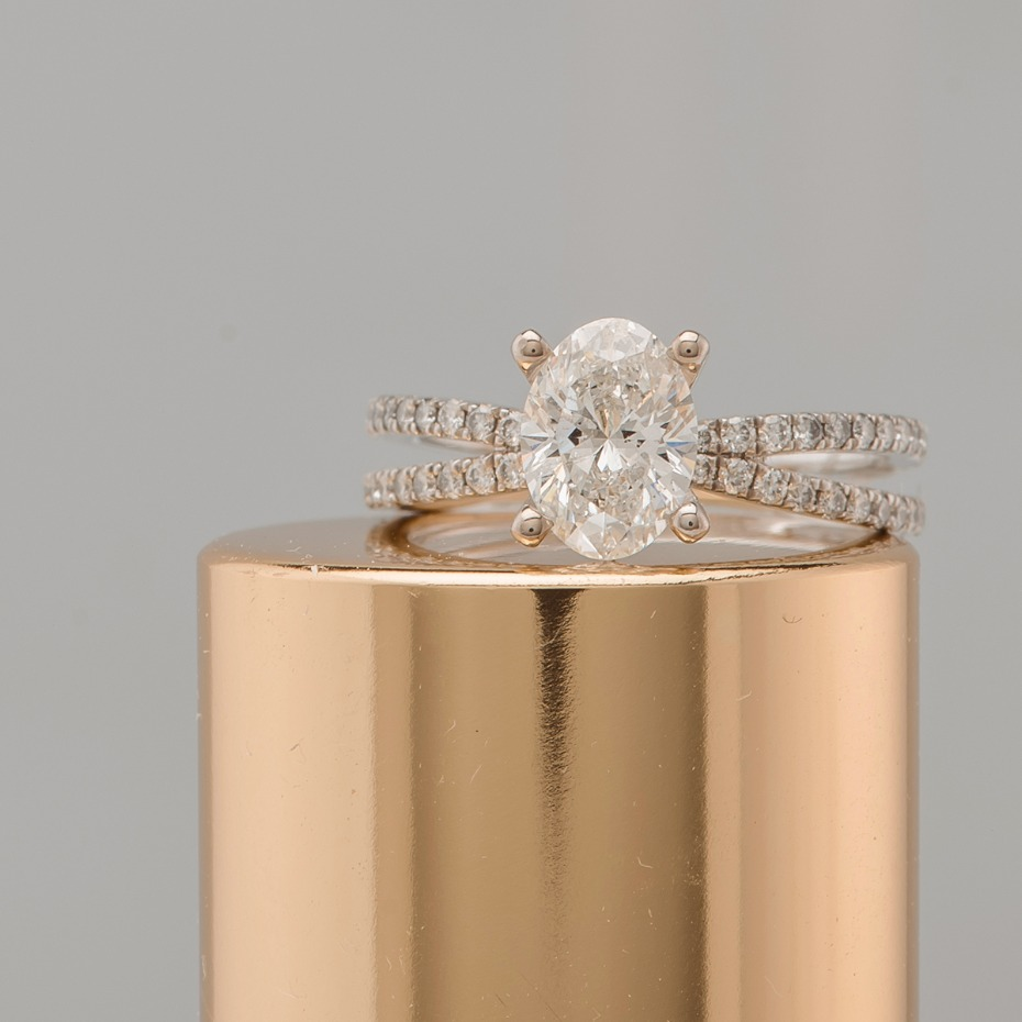 this pave set round diamond ring is beyond gorgeous from @shanecompany