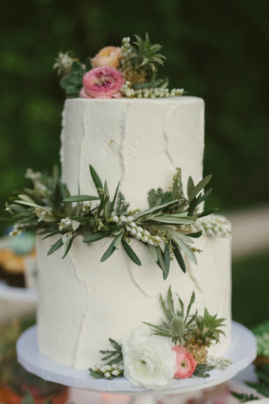 Simple two tier cake