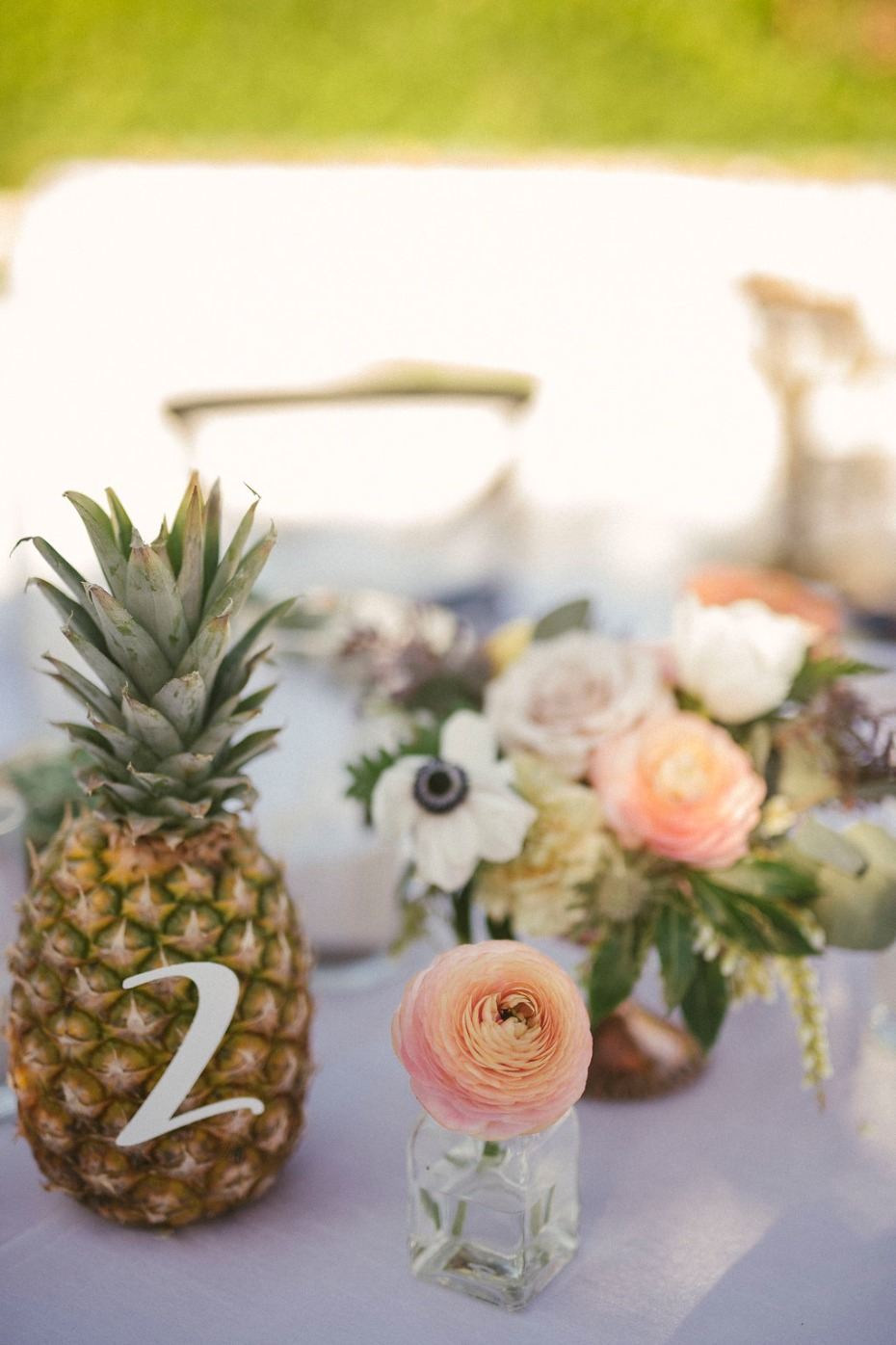 Use a pineapple for table numbers