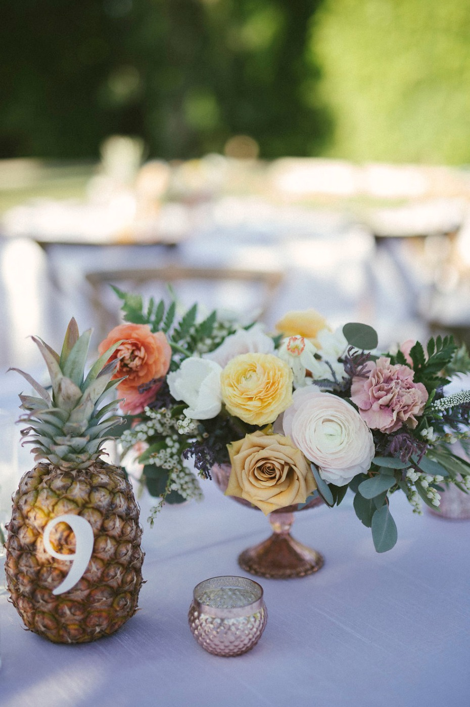 Pineapple table number