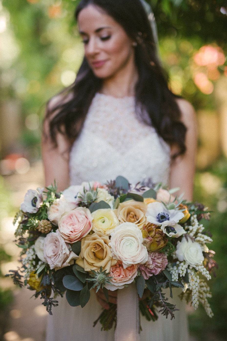 I spy a mini pineapple in this bouquet!