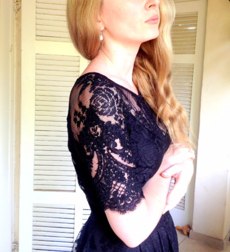Little Black Dress For a bridesmaid or any other event, conbiation of laces and elegance.
