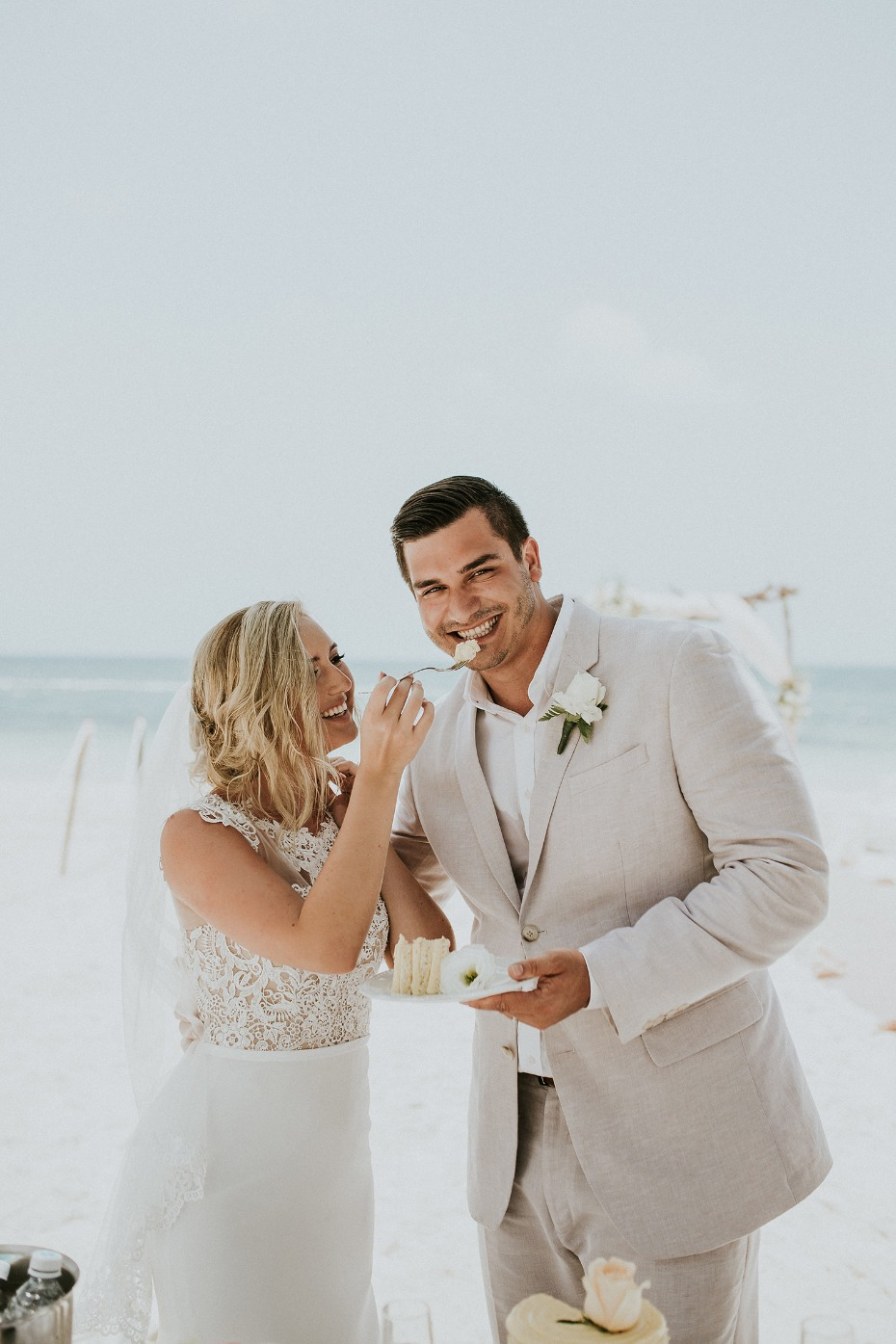 Intimate beach wedding in Mexico