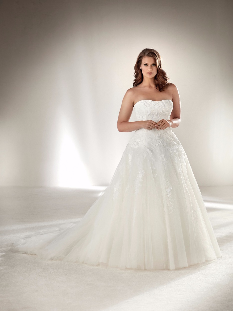 plus size strapless plus size ball gown