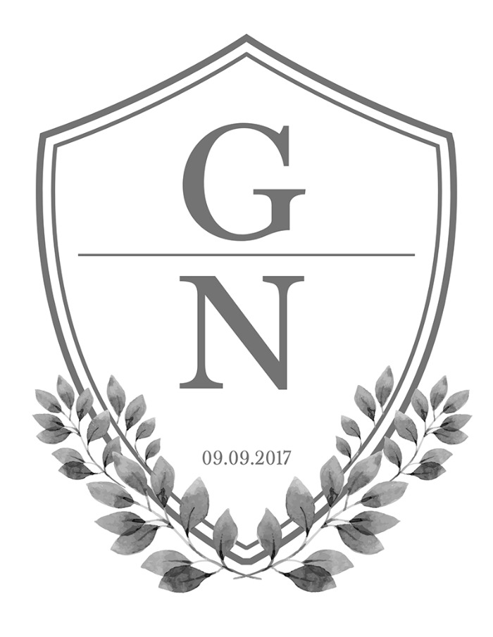 Print: Free Wedding Crest Monogram