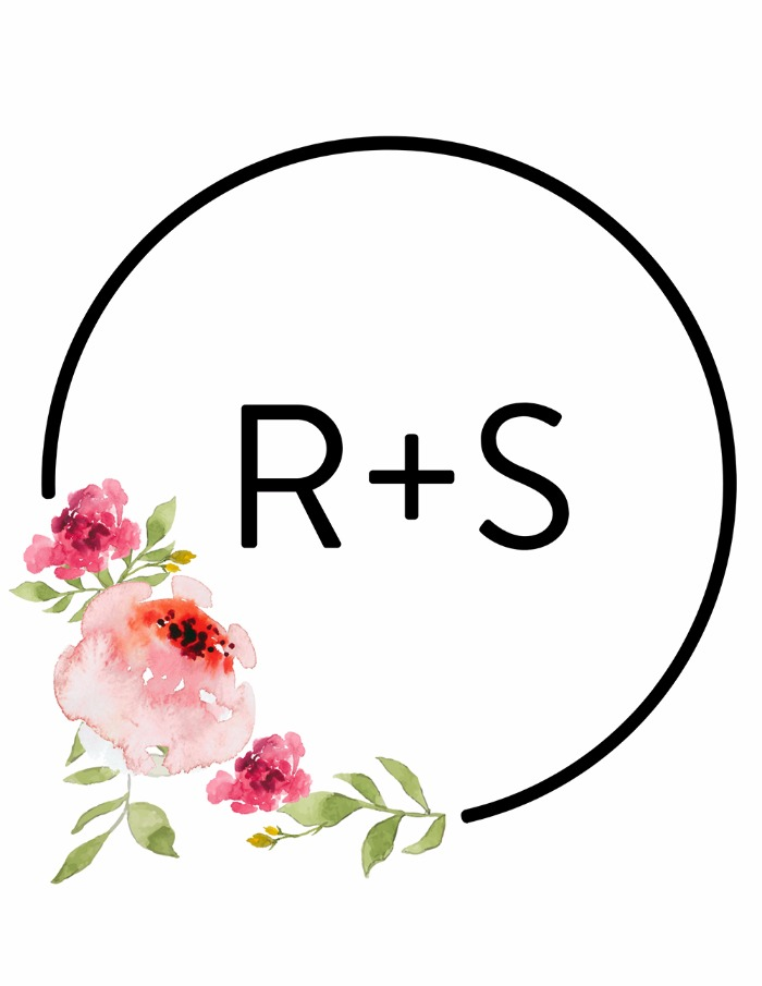 Print: Free Modern Wedding Monogram
