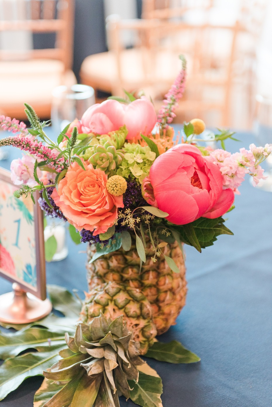 floral decor in pineables