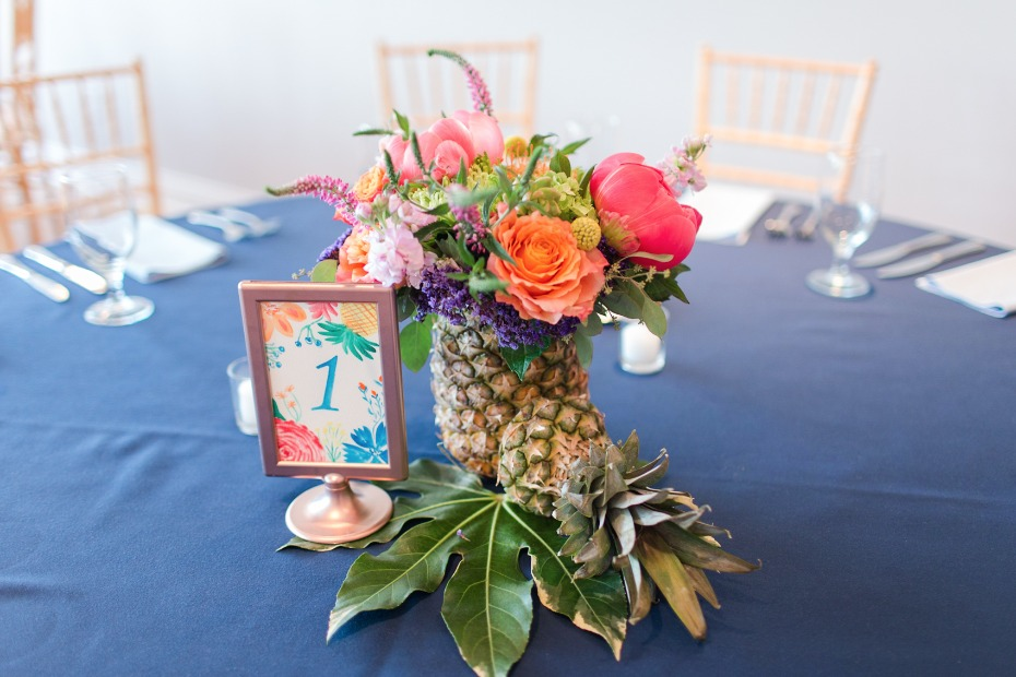 nautical and tropical wedding centerpeice
