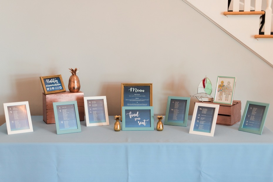 find your seat wedding seating assignment idea