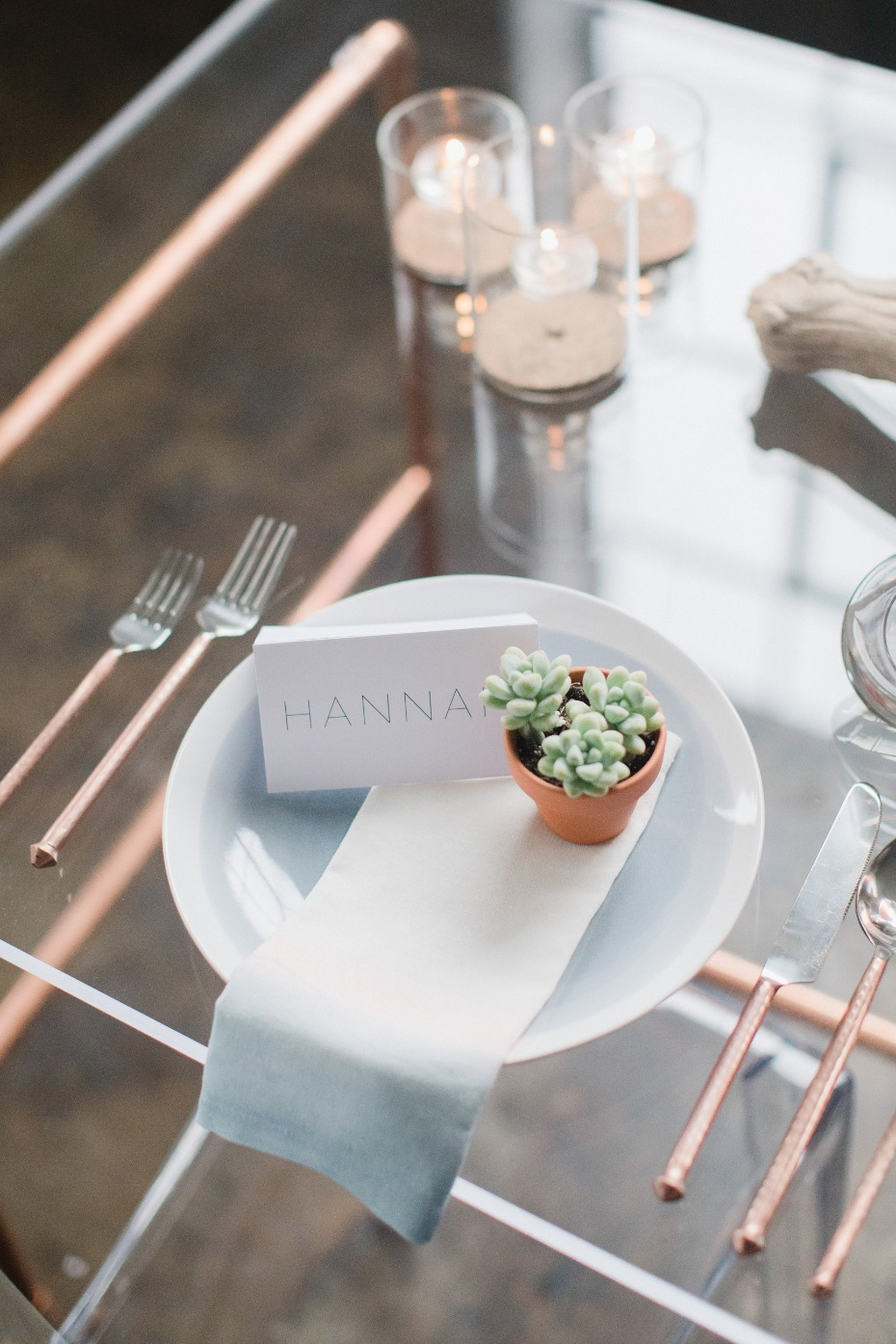 Sleek and modern place setting