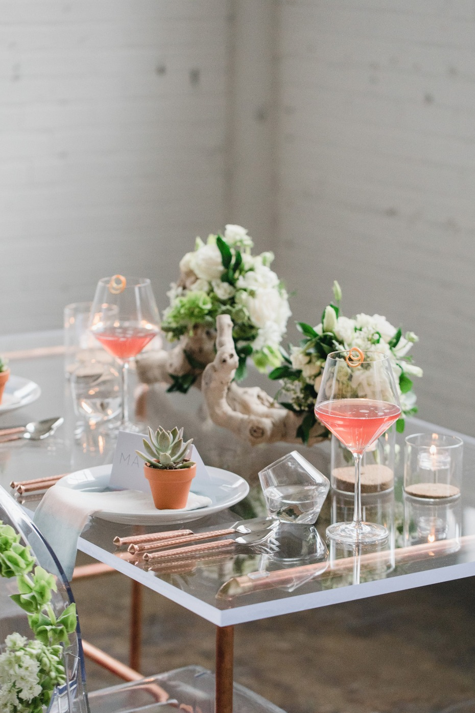 Modern sweetheart table for two