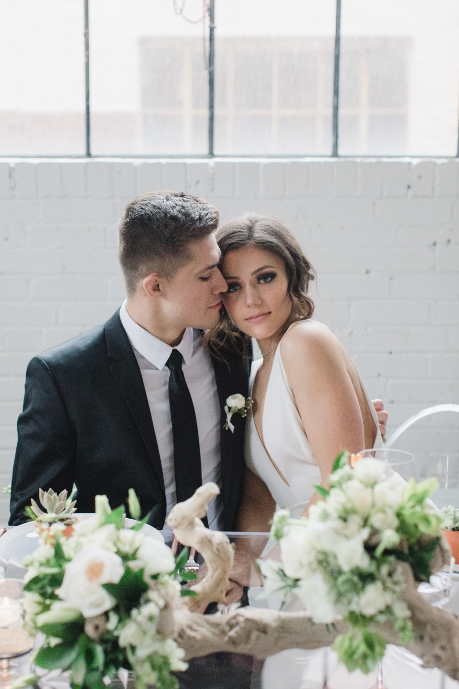 Gorgeous couple and a mod wedding