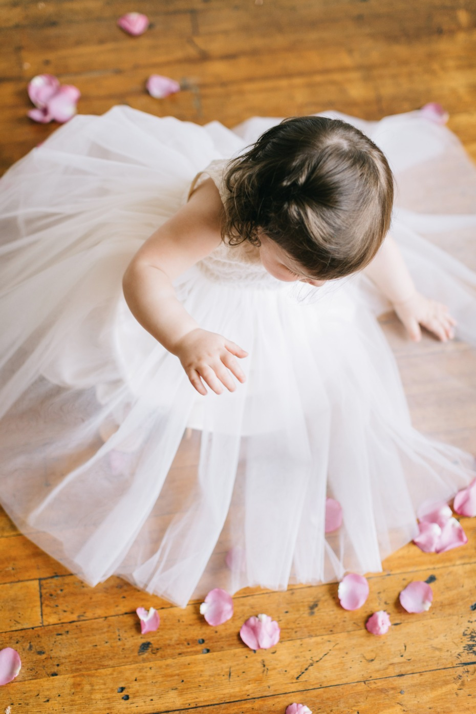 cute littlest flower girl