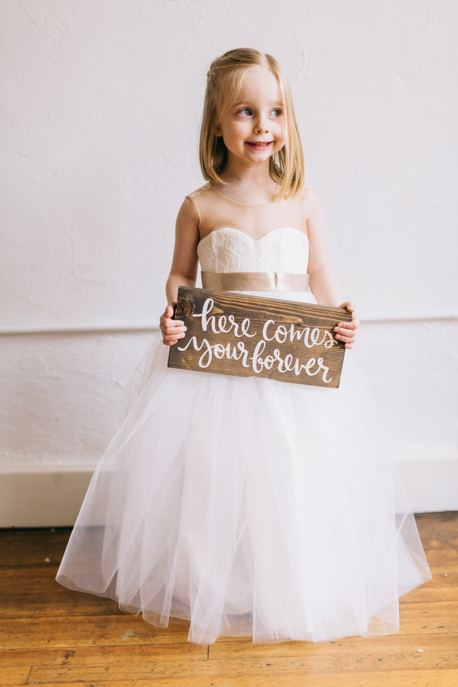here comes your forever wedding sign