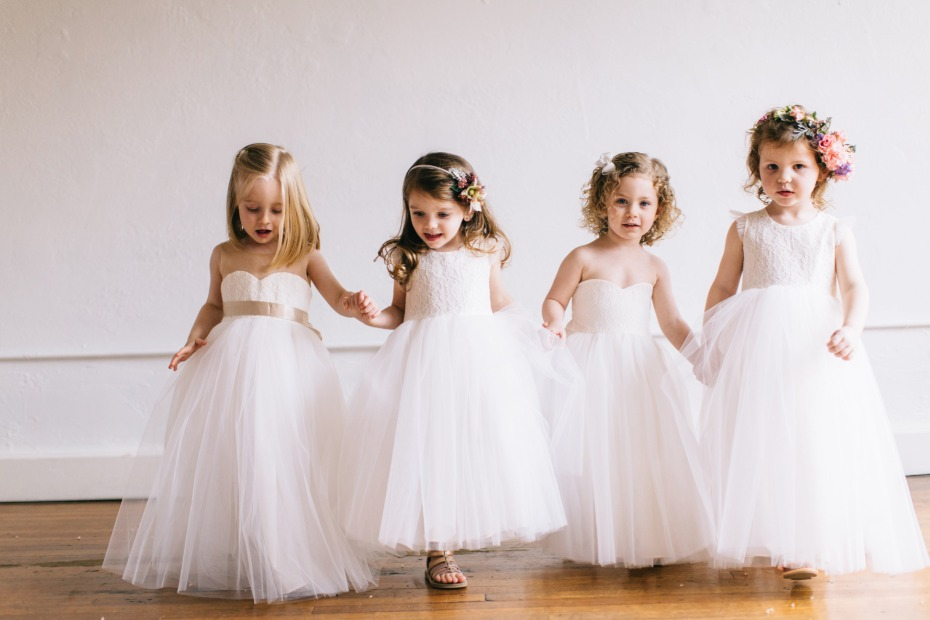here come the flower girls