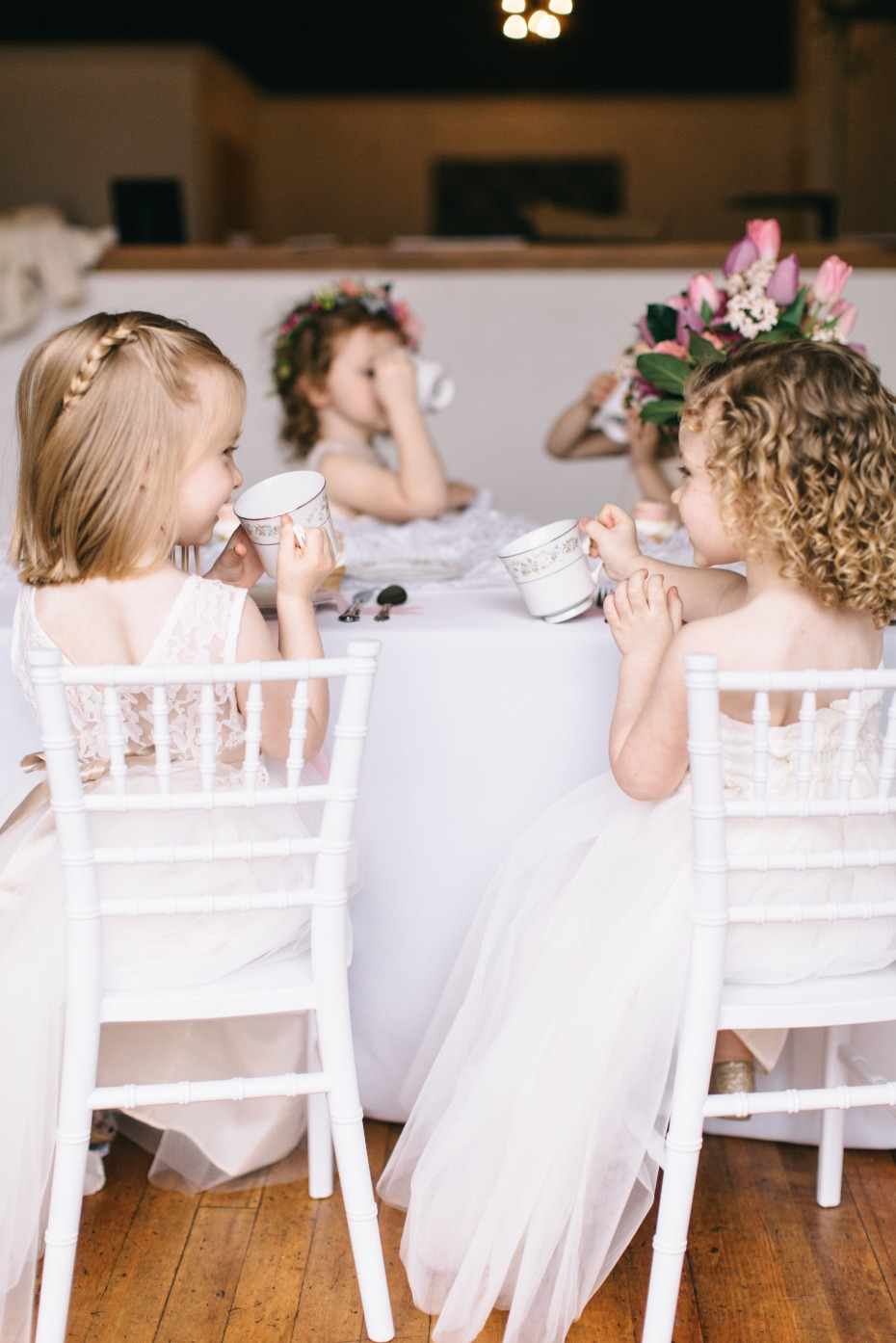 cute little tea party for your flower girls