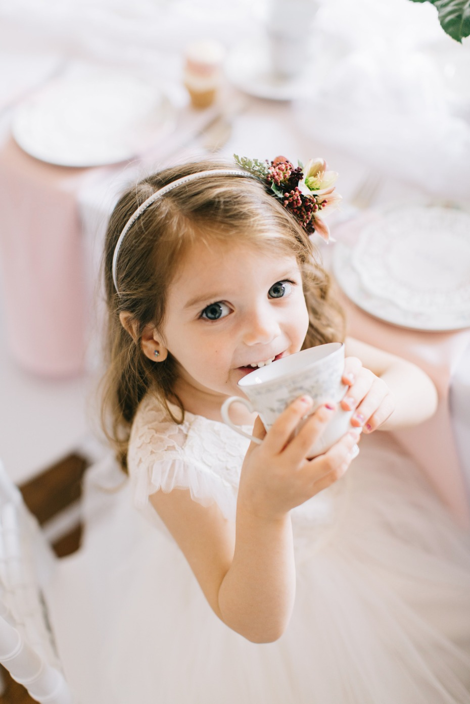 tea party for your flower girls