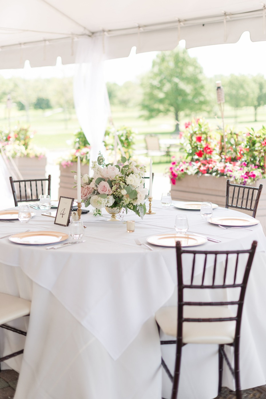 elegant country club bridal shower