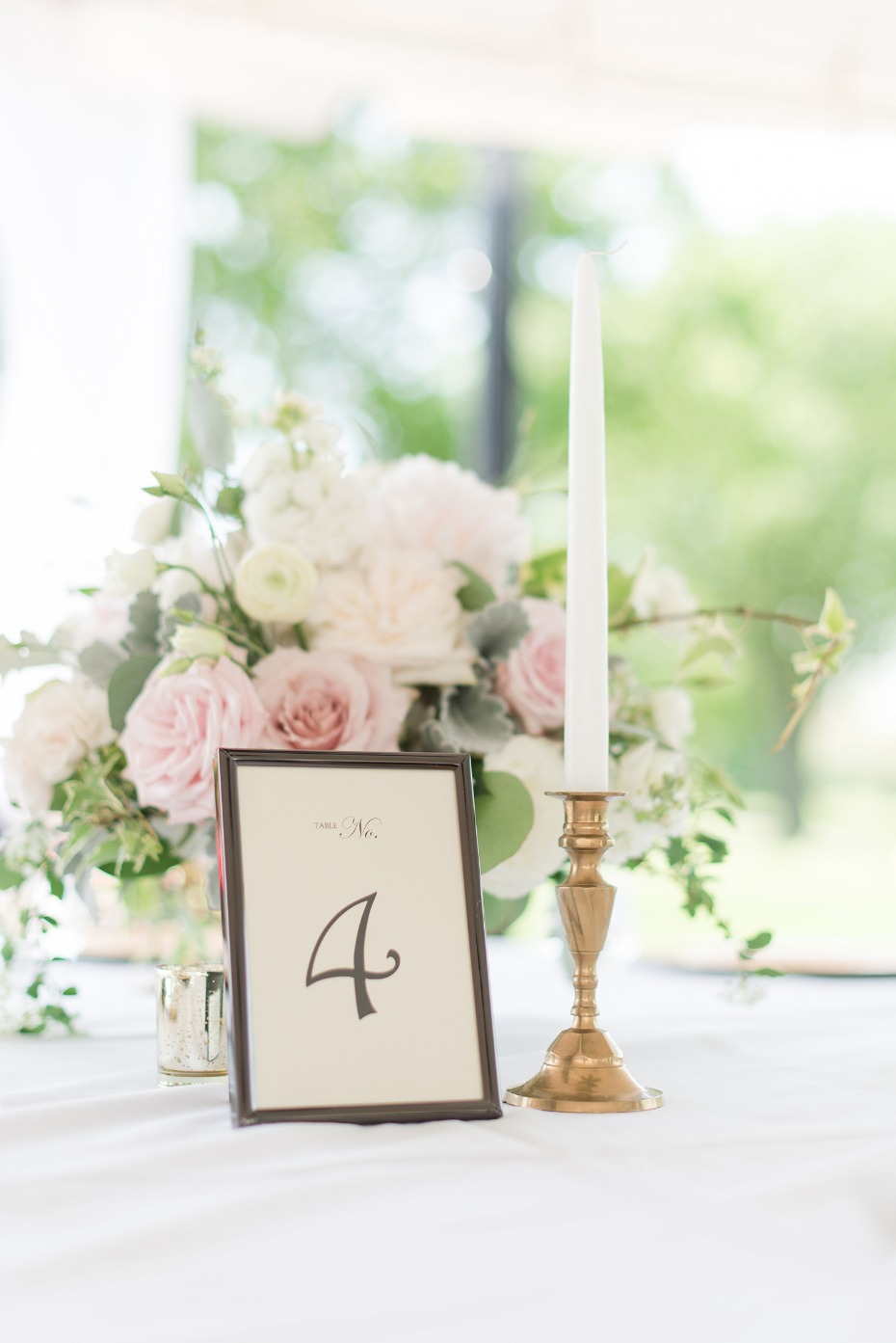 chic centerpiece for a bridal shower