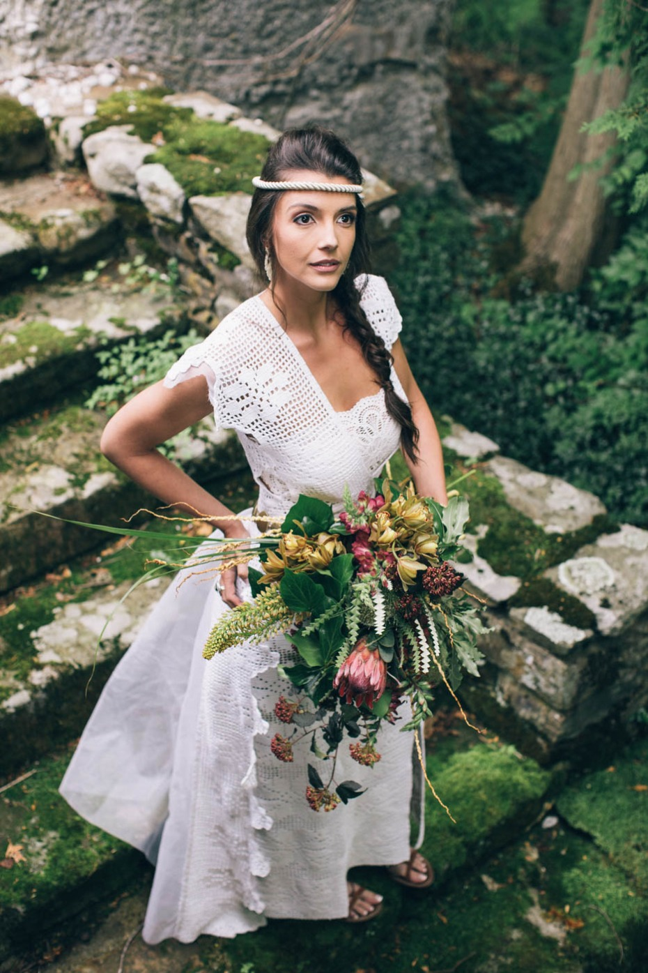 Greek goddess wedding inspiration