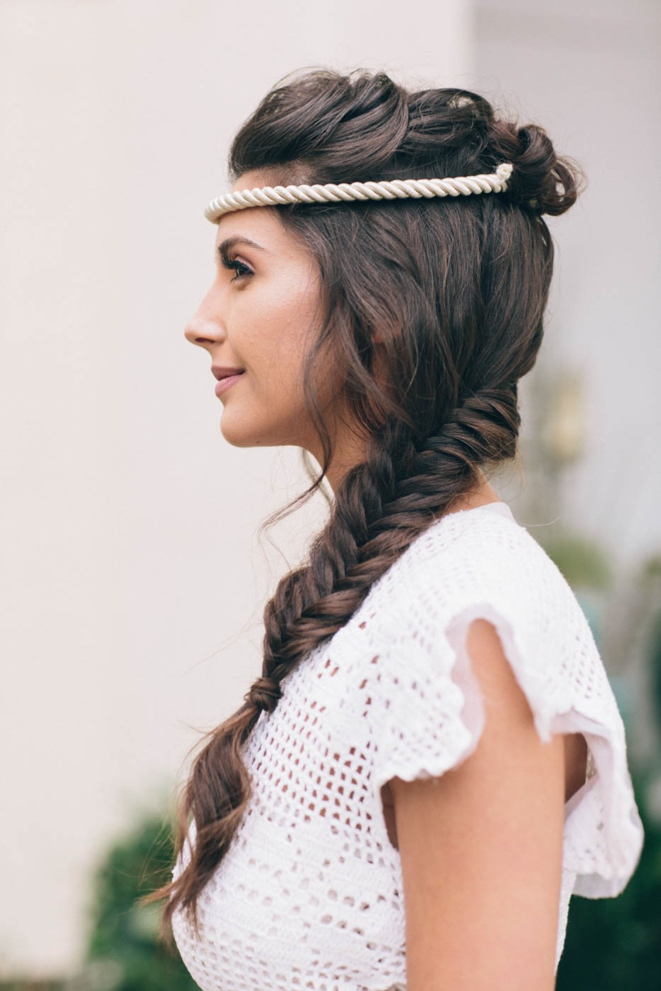 wedding braided hair idea