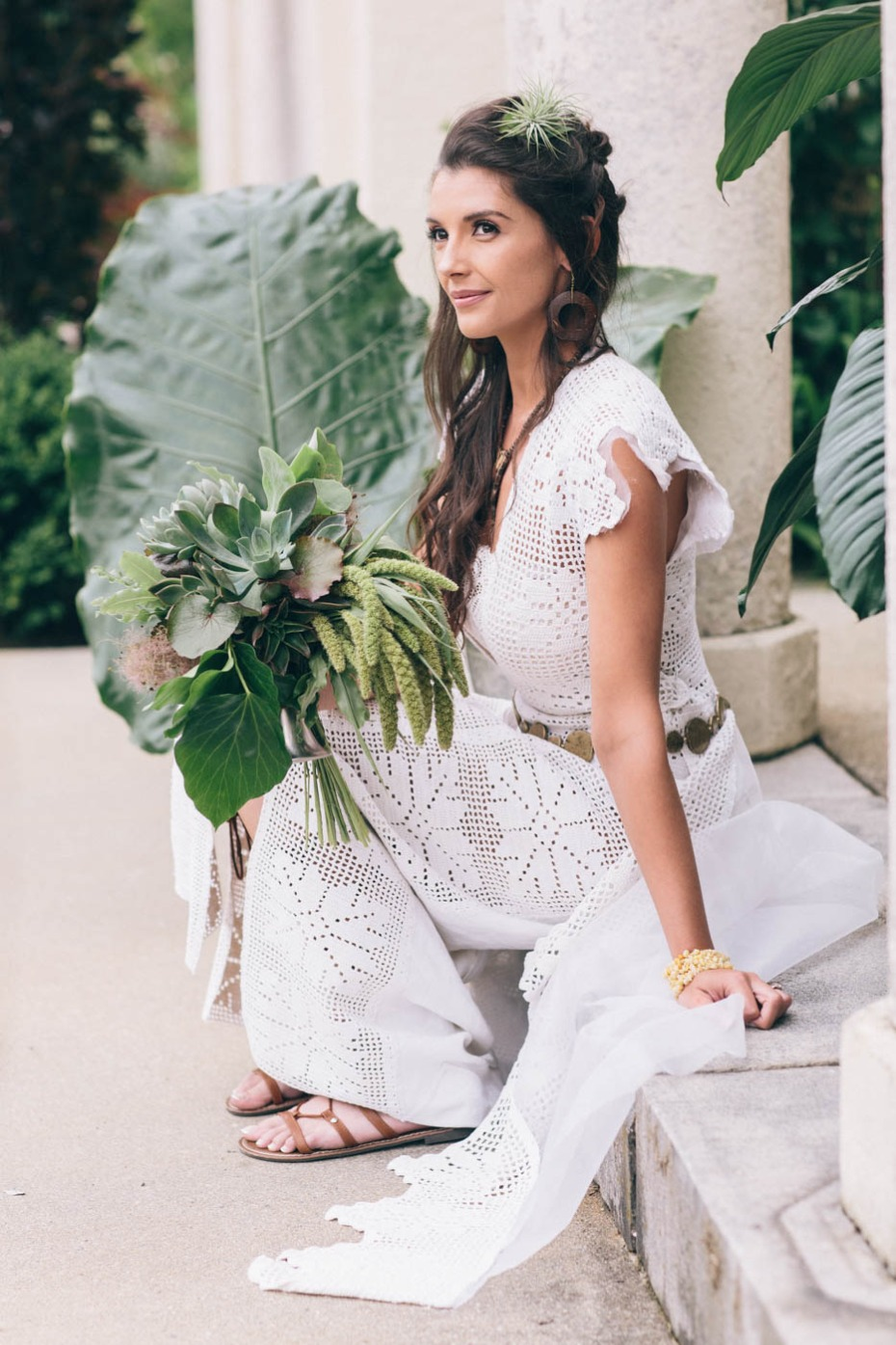 lace and geometric inspired wedding dress
