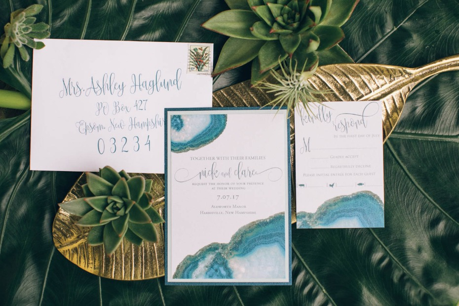 geode wedding invitaions