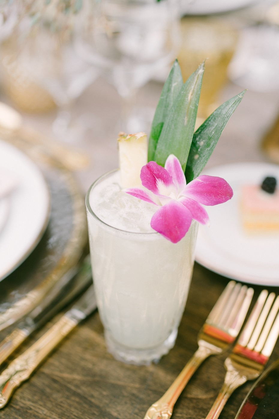 pina colada wedding cocktail
