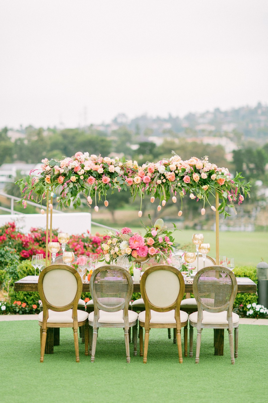 spring time inspired wedding table