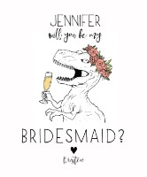 dinosaur will you be my bridesmaid