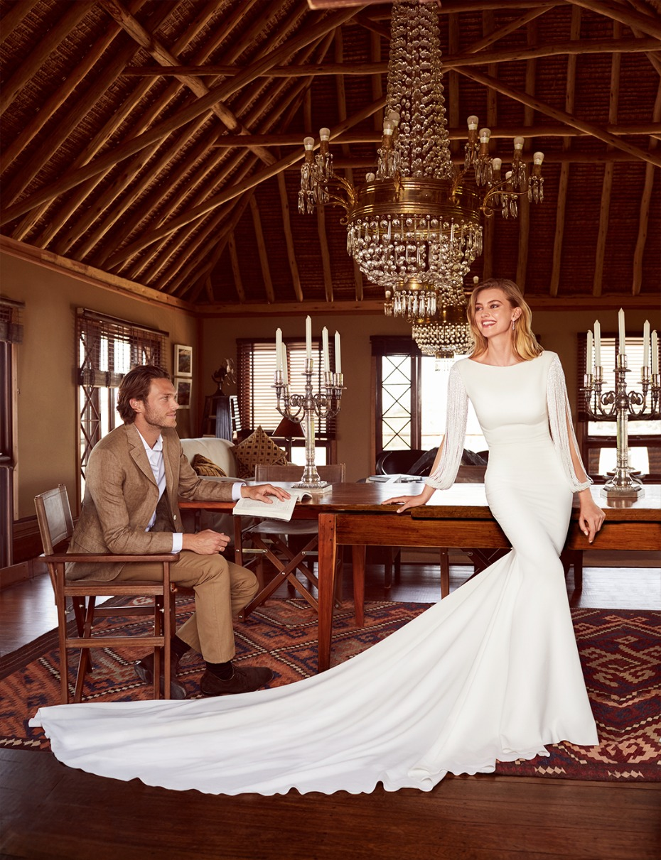 long sleeve wedding dress from pronovias