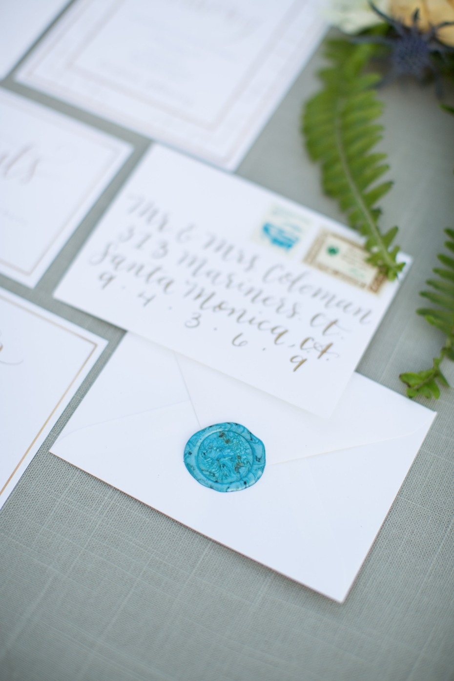 wax sealed wedding invitations