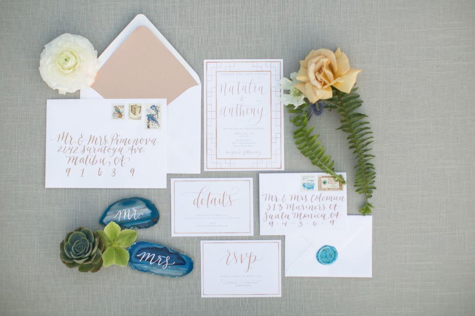 copper silver wedding suite