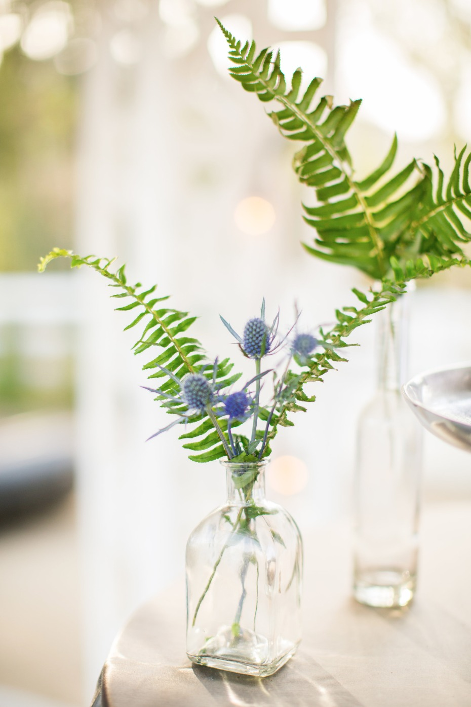 simple thistle floral decor