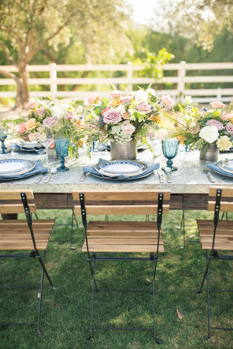 wedding tablescape for him and her