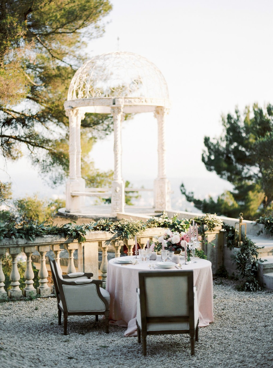 Elegant sweetheart table for two