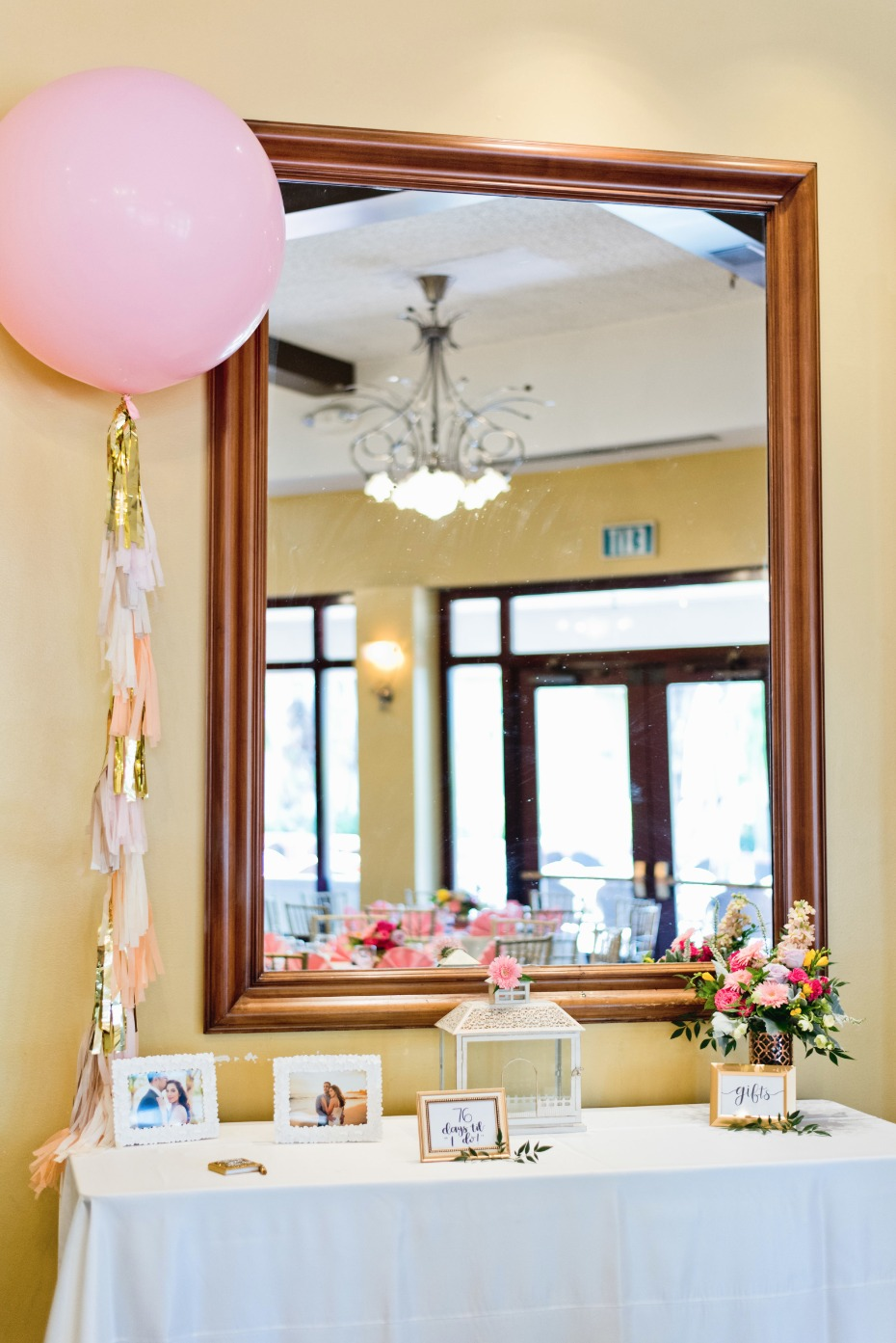 bridal shower welcome table