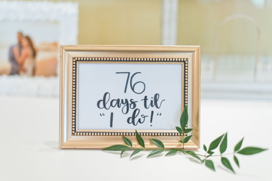 cute count down idea for your bridal shower