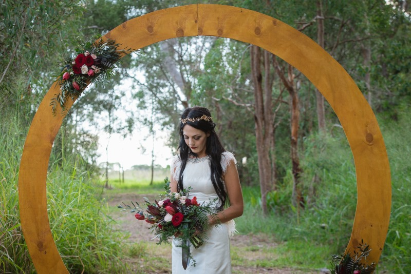Circular Wedding Arbour www.brisbaneweddingdecorators.com.au
