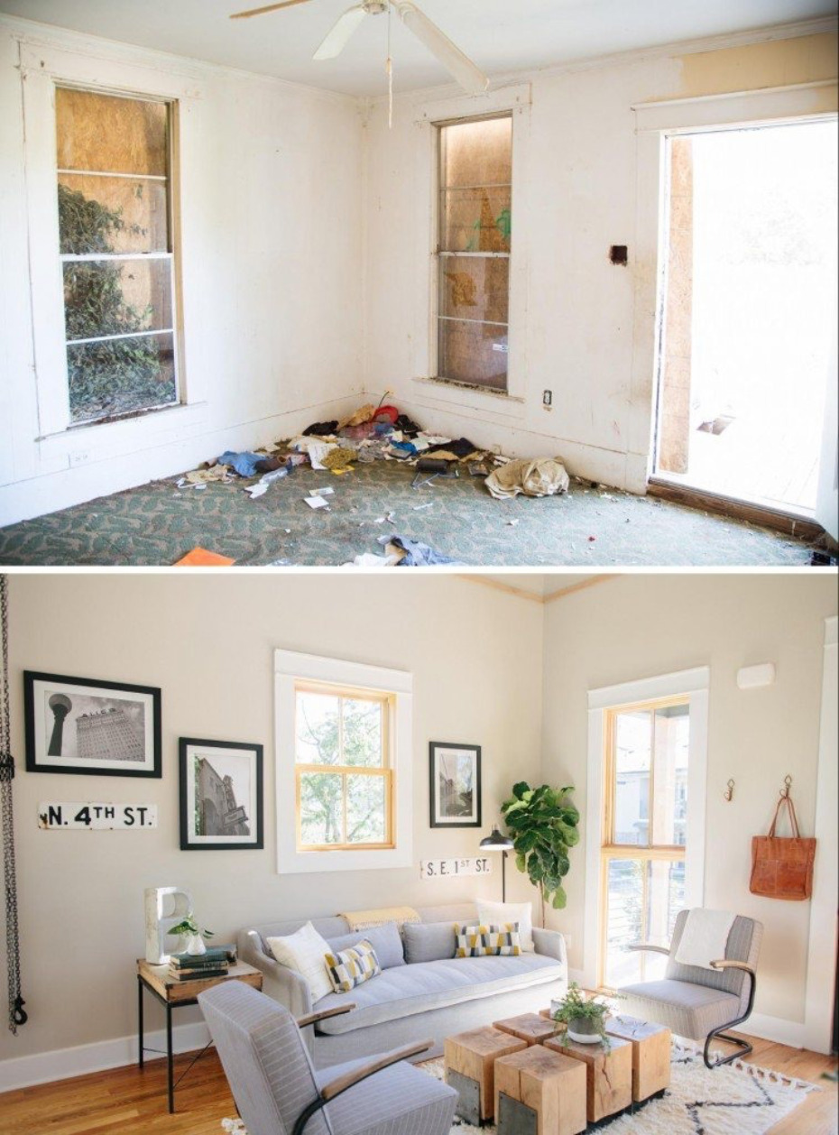 before and after remodels