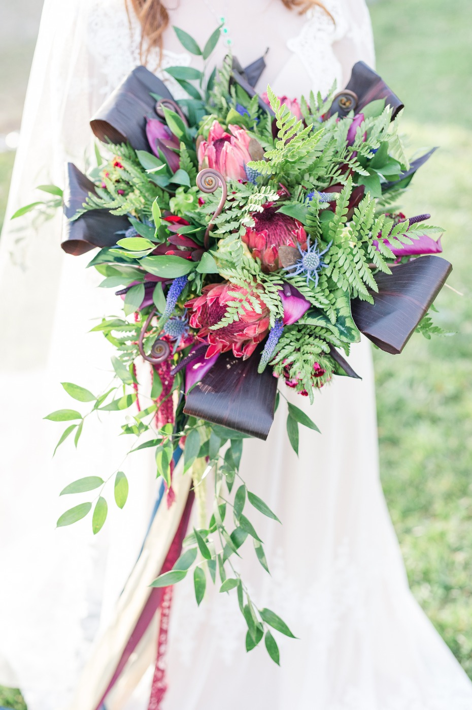 Unique bouquet filled with texture