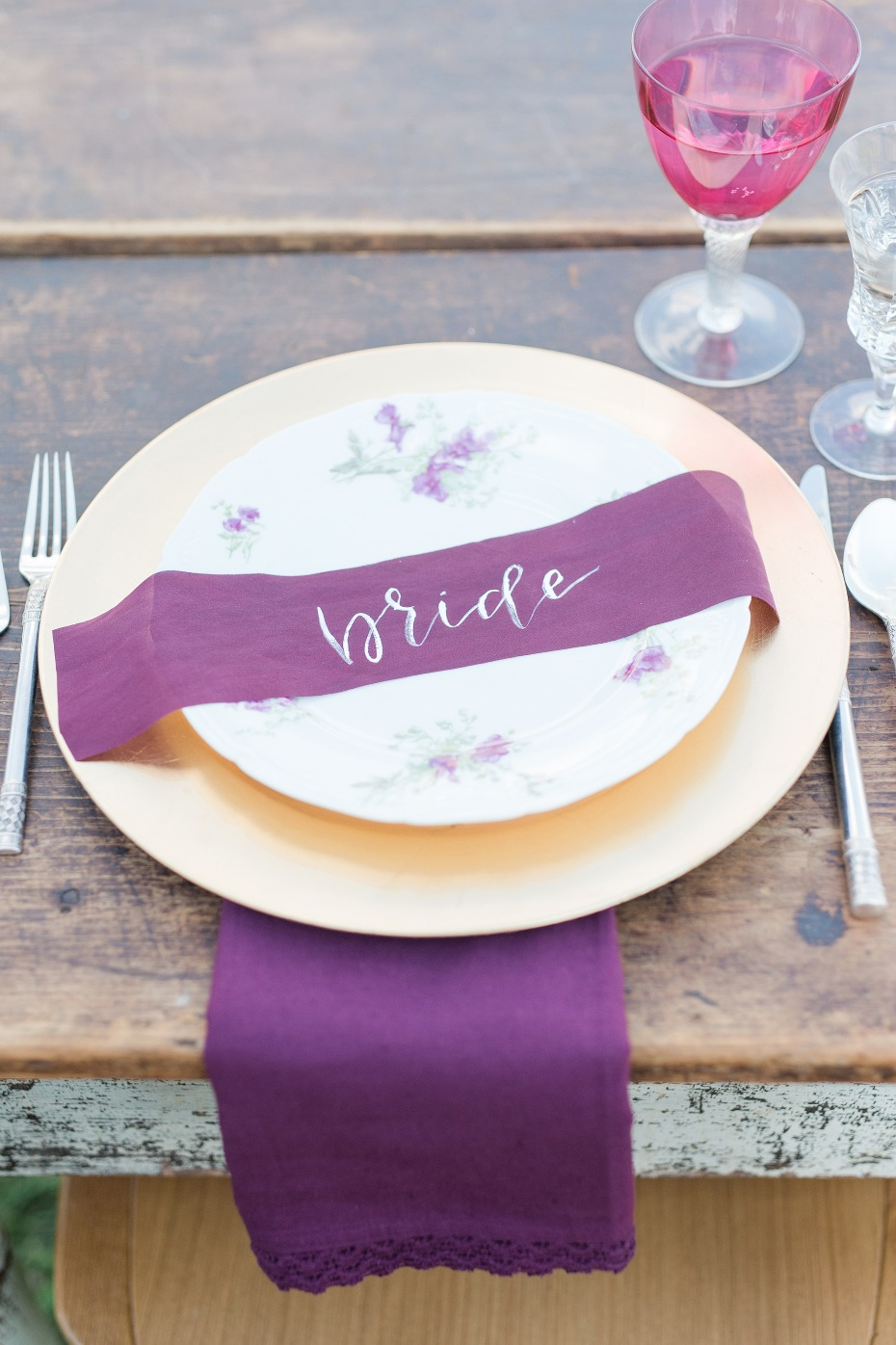 use some ribbon for a place card