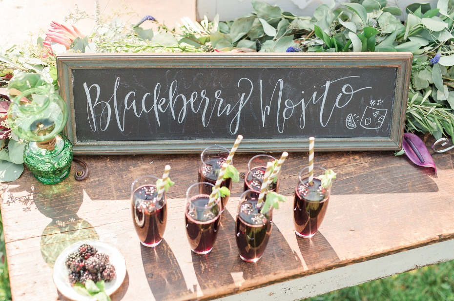 Blackberry mojitos to get the party started