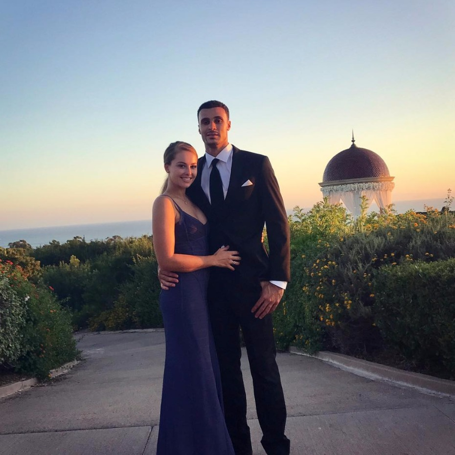 Larry Nance Jr. of the Lakers engaged. Wait till you see the rock!